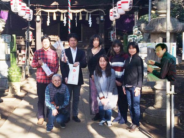 小金井神社にて